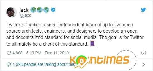 Jack Dorsey Twitter'ı Merkezi Olmayan Yönetime Geçirmek İstiyor
