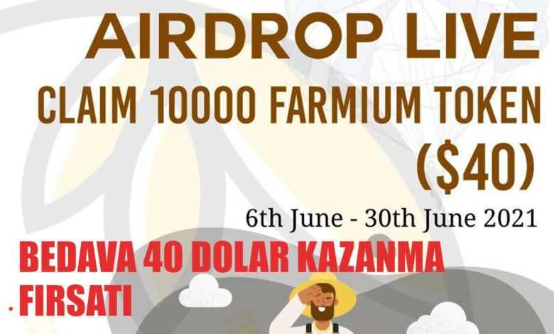 farmium airdrop etkinliği: bedava 40$ + 4$ referans geliri kazanın! 1