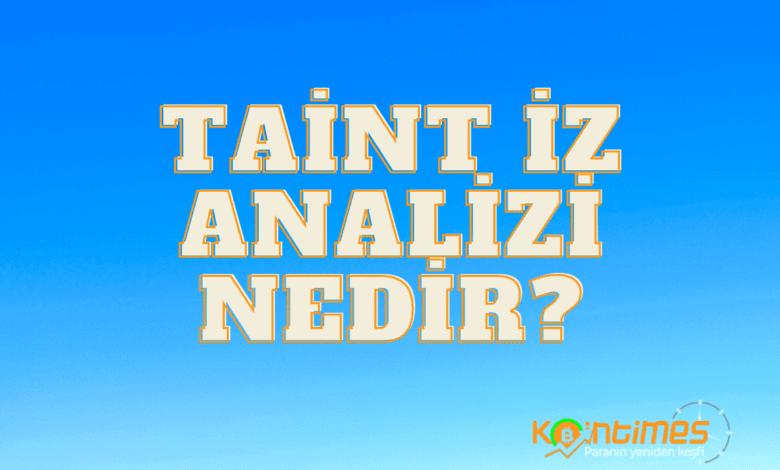 taint i̇z analizi nedir? 1